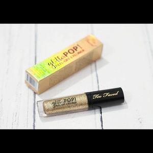 Glitter Pop Too Faced Peel Off Eyeliner in Gold
